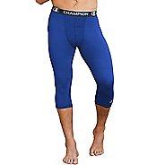 Mens Champion Power Flex 3/4 Capris Tights - Surf The Web Blue XL