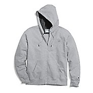 Mens Champion Powerblend Fleece Full Zip Half-Zips & Hoodies Technical Tops - Oxford Grey M