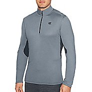 Mens Champion Training Quarter Zip Long Sleeve Technical Tops - Concrete/Stealth S