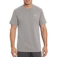 Mens Champion Vapor Cotton Basic Tee Short Sleeve Technical Tops - Oxford Grey XL