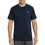 Mens Champion Vapor Cotton Basic Tee Short Sleeve Technical Tops - Navy L