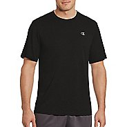 Mens Champion Vapor Heather Tee Short Sleeve Technical Tops - Black XL