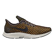 Mens Nike Air Zoom Pegasus 35 Running Shoe - Grey/Yellow 12.5