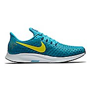 Mens Nike Air Zoom Pegasus 35 Running Shoe - Blue/Yellow 9.5