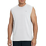Mens Champion Classic Jersey Muscle Sleeveless & Tank Technical Tops - White M