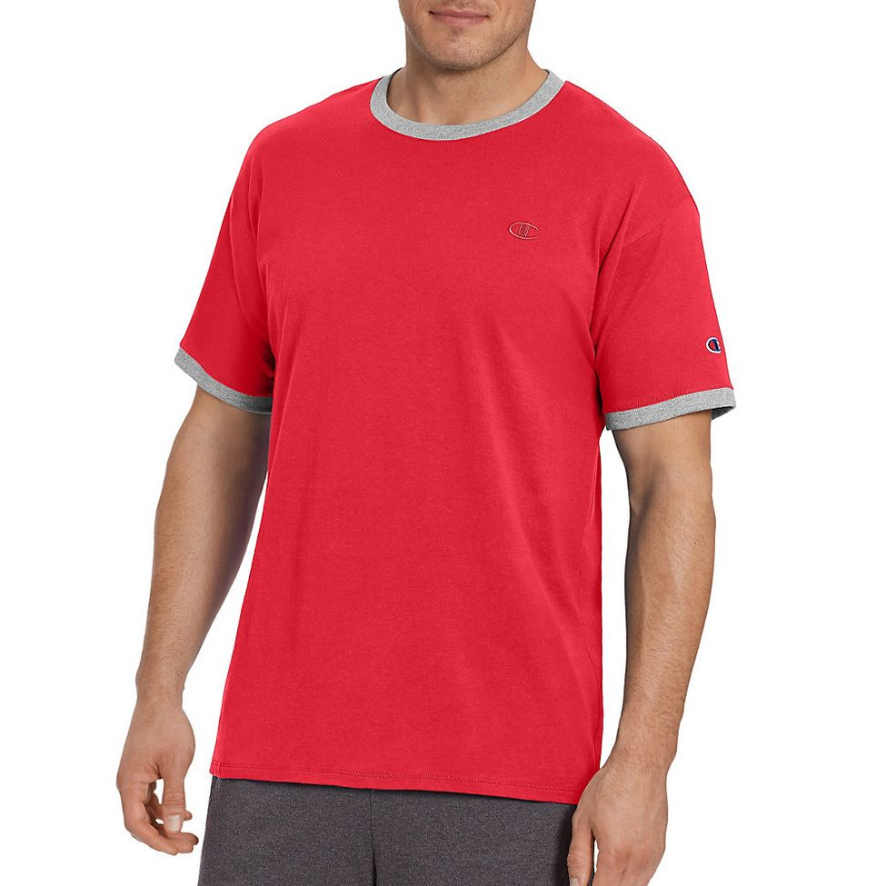 1b8bd659 Mens Champion Classic Jersey Ringer Tee Short Sleeve Technical Tops ...