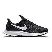 Womens Nike Air Zoom Pegasus 35 Running Shoe - Black/White 10.5