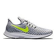 Womens Nike Air Zoom Pegasus 35 Running Shoe - White/Yellow 8.5