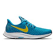 Womens Nike Air Zoom Pegasus 35 Running Shoe - Blue/Yellow 8
