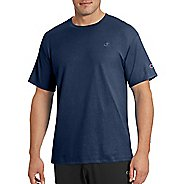 Mens Champion Classic Jersey Tee Short Sleeve Technical Tops - Navy S