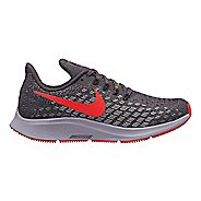 Kids Nike Air Zoom Pegasus 35 Running Shoe - Grey/Crimson 3.5Y