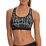 Womens Champion Absolute Max - Print Sports Bras - Grey/Black M