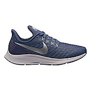 Kids Nike Air Zoom Pegasus 35 Running Shoe - Grey/Purple 2Y