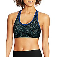 Womens Champion Absolute Racerback with SmoothTec Band-Print Sports Bras - White Stars/Blue L