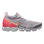 Womens Nike Air VaporMax Flyknit 2 Casual Shoe - Atmosphere/Crimson 9