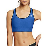 Womens Champion Absolute Shape with SmoothTec Band Sports Bras - Steel Blue/ Black L