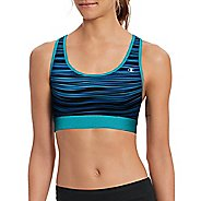 Womens Champion Absolute Workout -Print Sports Bras - Upbeat Teal S