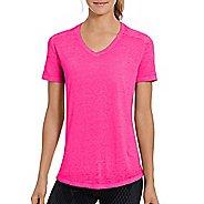 Womens Champion Authentic Wash Boyfriend Tee Short Sleeve Technical Tops - Pop Art Pink XS