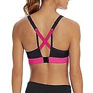 Womens Champion Curvy Strappy Sports Bras - Black/Pop Art Pink M