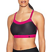 Womens Champion Show-Off Mesh Sports Bras - Black/Pop Art Pink M