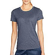 Womens Champion Vapor PowerTrain Heather Tee Short Sleeve Technical Tops - Steel Blue Heather XS