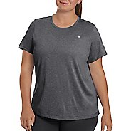 Womens Champion Vapor Plus Heather Tee Short Sleeve Technical Tops