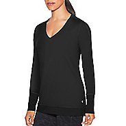 Womens Champion Absolute Mesh Tee Long Sleeve Technical Tops - Black S