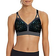 Womens Champion Curvy Strappy - Print Sports Bras - Granite Heather/Black M