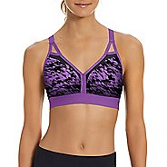 Womens Champion Curvy Strappy - Print Sports Bras - Purple Reef/Black M