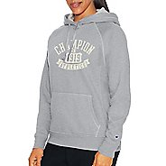 Womens Champion Heritage Fleece Pullover Hood Half-Zips & Hoodies Technical Tops - Oxford Grey ...