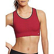4961c8215 Womens Champion Infinity Shape Sports Bras - Red Spark Black XS