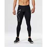 Mens 2XU Heat Compression Tights - Black/Silver XL