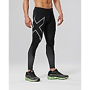 Mens 2XU Reflect Compression Tights - Black/Silver XS