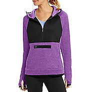 Womens Champion Premium Tech Fleece 1/2 Zip Half-Zips & Hoodies Technical Tops - Purple Reef ...