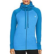 Womens Champion Tech Fleece Full Zip Cold Weather Jackets - Hydro Heather L