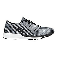 Womens ASICS fuzeX Knit Running Shoe - Carbon/Black/White 5.5