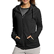 Womens Champion Fleece Full Zip Half-Zips & Hoodies Technical Tops - Black XXL