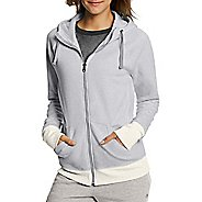 Womens Champion Fleece Full Zip Half-Zips & Hoodies Technical Tops - Oxford Heather XL