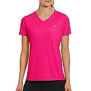 Womens Champion Vapor Select Tee Short Sleeve Technical Tops - Pop Art Pink S