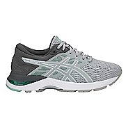 Womens ASICS GEL-Flux 5 Running Shoe - Grey/White/Green 10.5