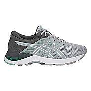 Womens ASICS GEL-Flux 5 Running Shoe - Grey/White/Green 9.5