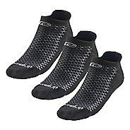 R-Gear Drymax Thick Cushion No Show 3 pack Socks - Black M