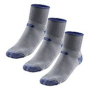 R-Gear Drymax Medium Cushion Trail Quarter 3 pack Socks - Blue/Grey S