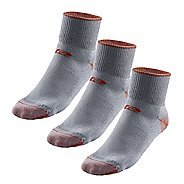 R-Gear Drymax Medium Cushion Trail Quarter 3 pack Socks - Orange/Grey L
