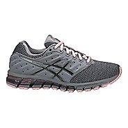 Womens ASICS GEL-Quantum 180 2 MX Running Shoe - Grey/Carbon/Pink 9.5