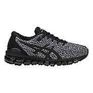 Womens ASICS GEL-Quantum 360 Knit Running Shoe - Black/White 5.5