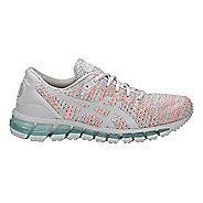 Womens ASICS GEL-Quantum 360 Knit Running Shoe - Grey/Orange/Blue 8