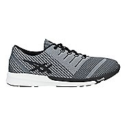 Mens ASICS fuzeX Knit Running Shoe - Carbon/Black/White 6