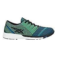 Mens ASICS fuzeX Knit Running Shoe - Blue/Black/Yellow 10