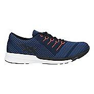 Mens ASICS fuzeX Knit Running Shoe - Blue/Black/Tomato 6.5